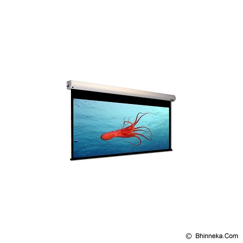 MICROVISION Motorized Wall Screen [3636RL] - Putih - Proyektor Screen Motorize